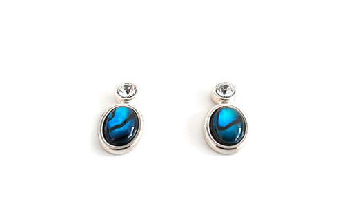 Diamante earrings with Paua