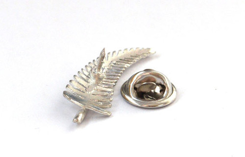 Silver fern badge with clasp