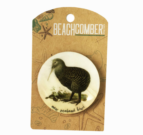 New Zealand Kiwi Mother of Pearl Magnet