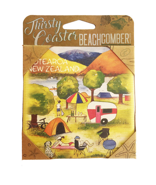BCCS927 Thirsty Coaster NZ Camping Carded