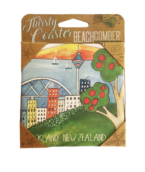 BCCS928 Thirsty Coaster Auckland Carded