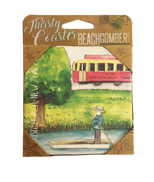 BCCS930 Thirsty Coaster Christchurch Carded