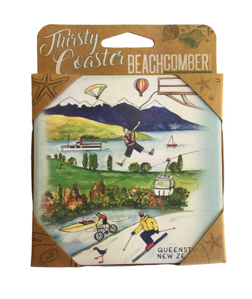 BCCS931 Thirsty Coaster Queenstown Carded