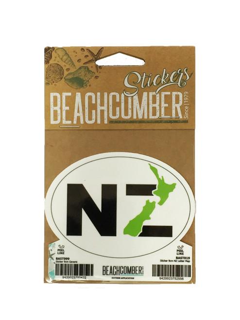 Sticker 9cm NZ Letter Map