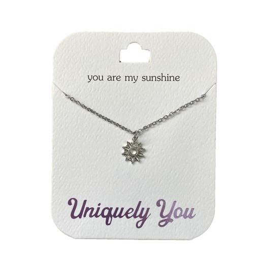 YOU4001 Uniquely You Pendant, Sunshine