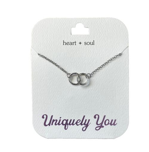 YOU4009 Uniquely You Pendant, Heart + soul