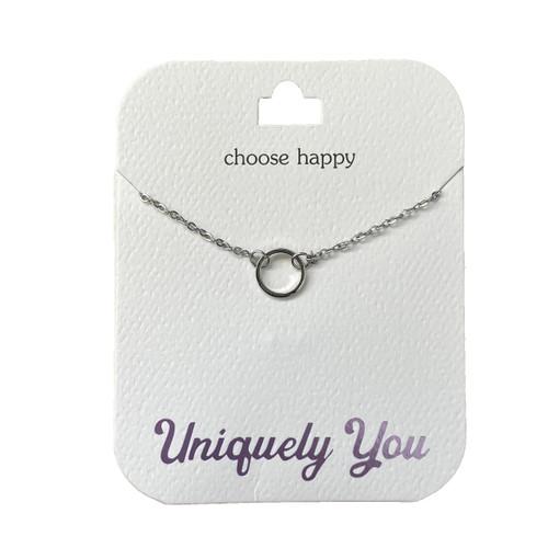 YOU4010 Uniquely You Pendant, Choose happy
