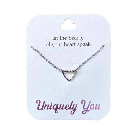 YOU4011 Uniquely You Pendant, Heart speak