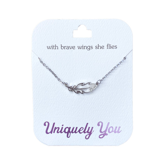 YOU4013 Uniquely You Pendant, Brave wings