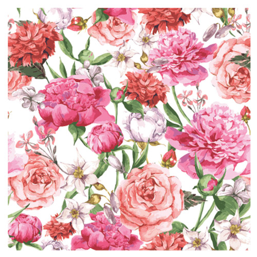 BACS936 Thirsty Coaster Floral Roses