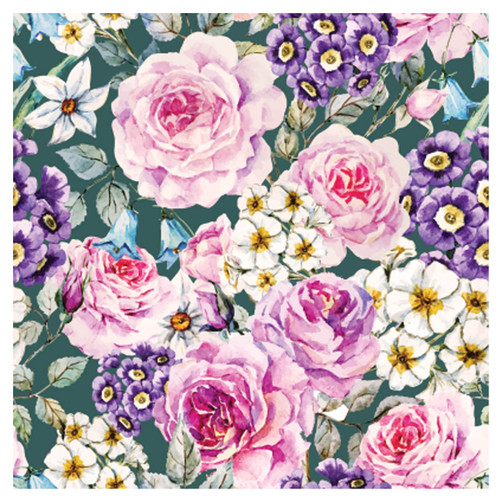 BACS938 Thirsty Coaster Floral Roses and Daisies
