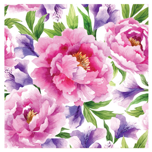 BACS940 Thirsty Coaster Floral Peonies