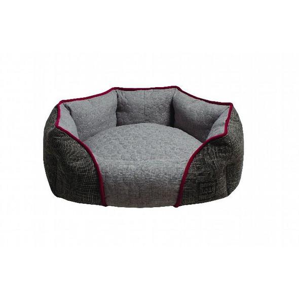 Zeez Oval Cuddler Bed Grey Large