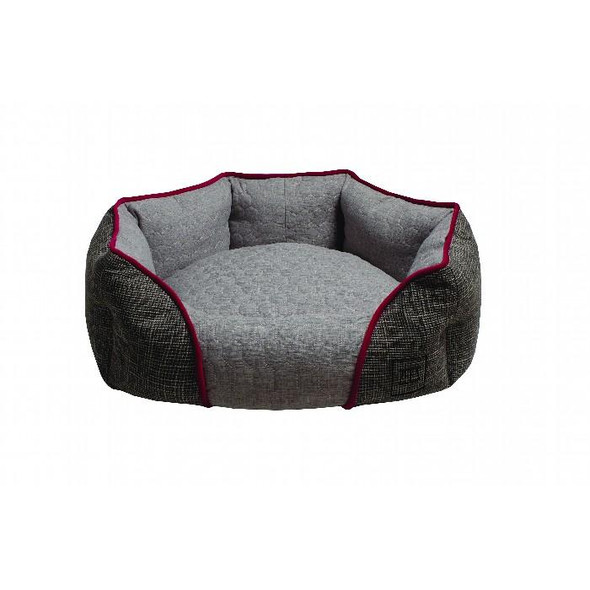 Zeez Oval Cuddler Bed Grey Medium