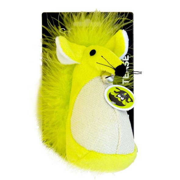 Scream - Fatty Mouse Cat Toy Green 13cm