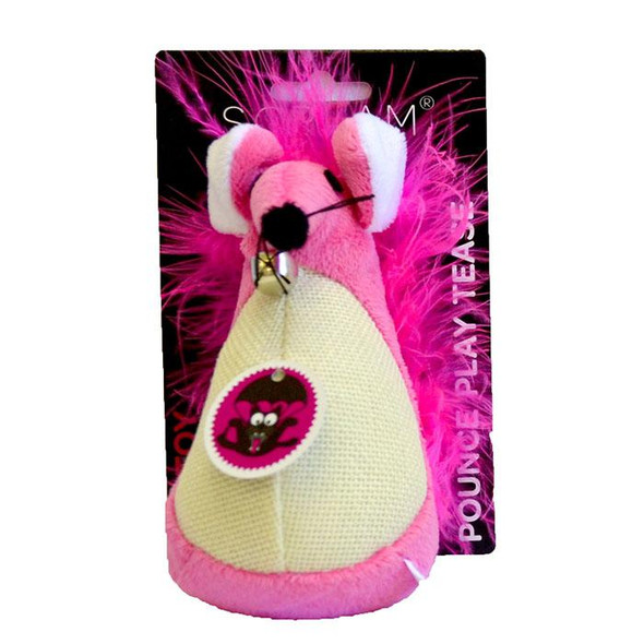 Scream - Fatty Mouse Cat Toy Pink 13cm