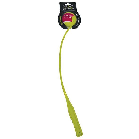 Scream Ball Launcher Loud Green 65Cm