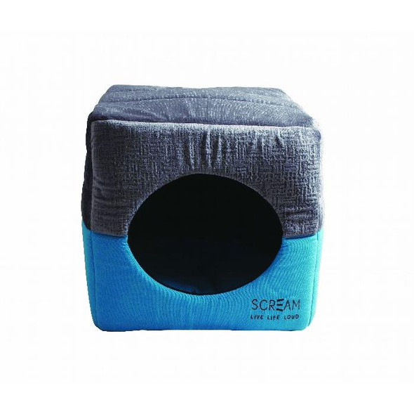 Scream Pet Cube Loud Blue 40x40x40cm