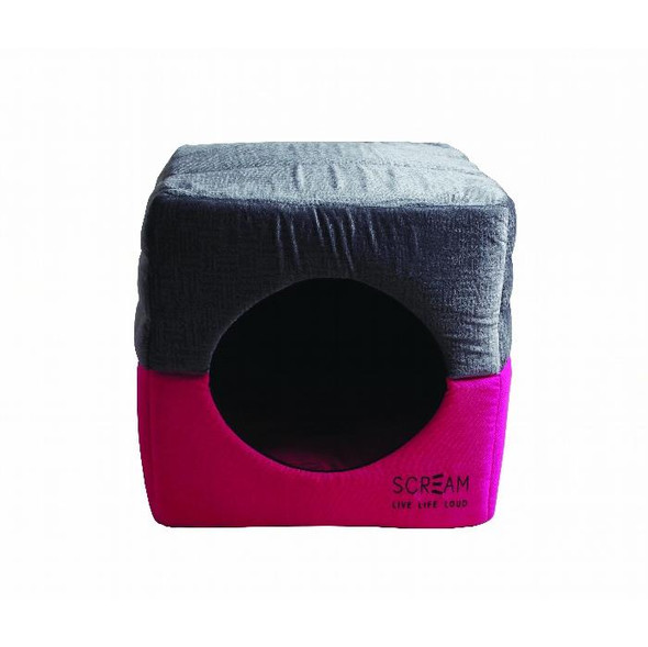 Scream Pet Cube Loud Pink 40x40x40cm