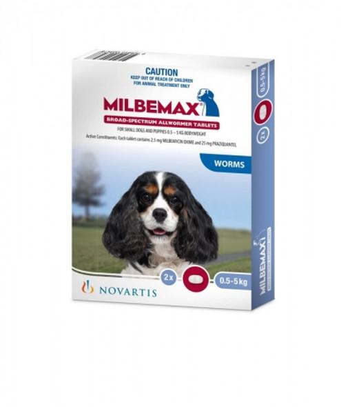Milbemax Dog Small (<5Kg) 2Pk