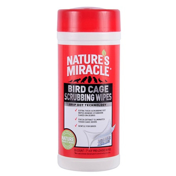 Nature's Miracle - Bird Scrubbing Wipes 30PK