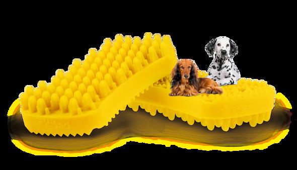 Pet + Me Silicone Brush Yellow