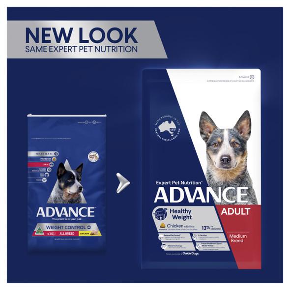 Advance Dog Adult Medium Breed Healthy Weight - Chicken 13Kg