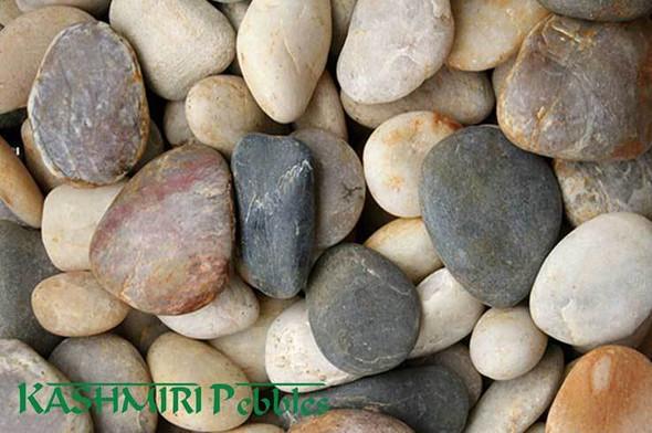 Kashmiri Mixed Natural Pebbles 30-50mm 20kg