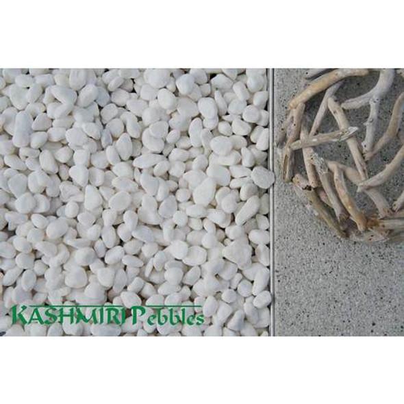 Kashmiri Snow White Pebbles 50-70mm 20kg