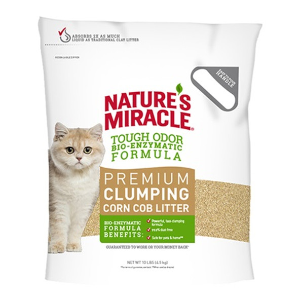 Nature's Miracle Premium Clumping Corn Litter 4.5kg