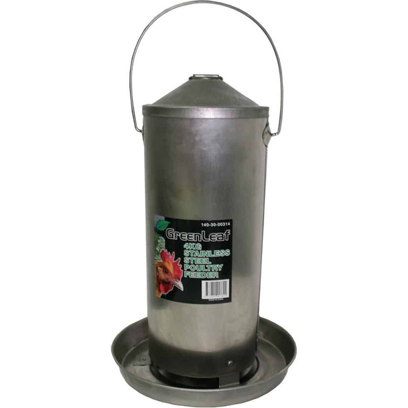 4Kg Stainless Steel Poultry Feeder