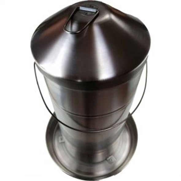 15Kg Stainless Steel Poultry Feeder