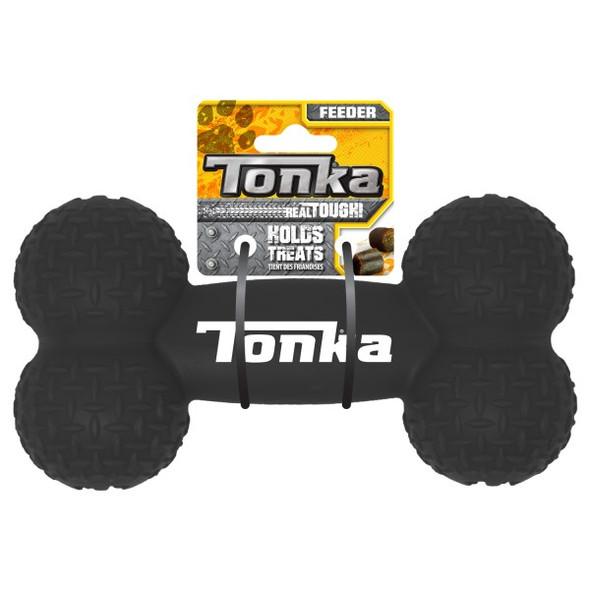 Tonka Diamond Plate Feeder Bone Black 20cm