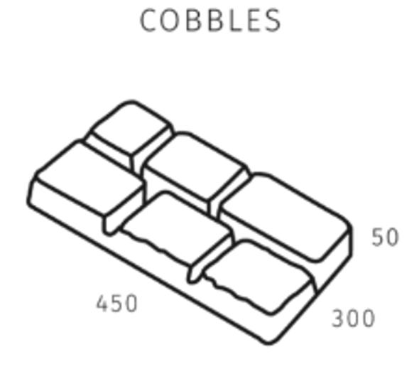 BRADSTONE COBBLE GIRONDE 450 x 300 x 50mm