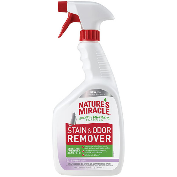 Nature's Miracle Stain & Odour Remover Cat 946ml - Lavender