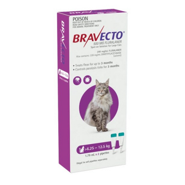 Bravecto Cat Spot on 6.25-12.5Kg 2pk