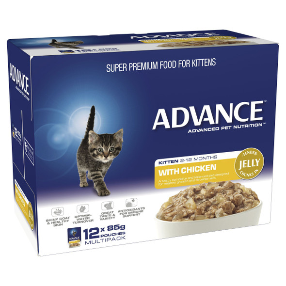 Advance Cat Wet Kitten Jelly Chic 12X85G