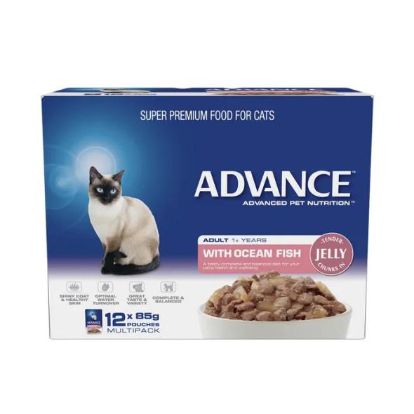 Advance Cat Wet Ocean Fish Jelly 12X85G