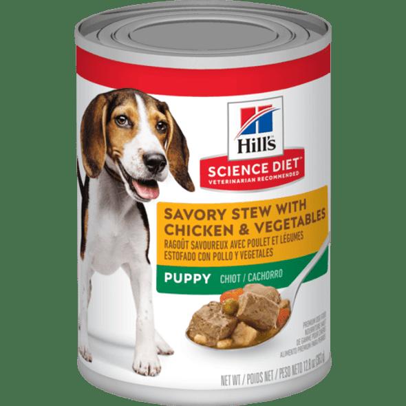Science Diet Dog Can Puppy Savory Stew Chicken 363g