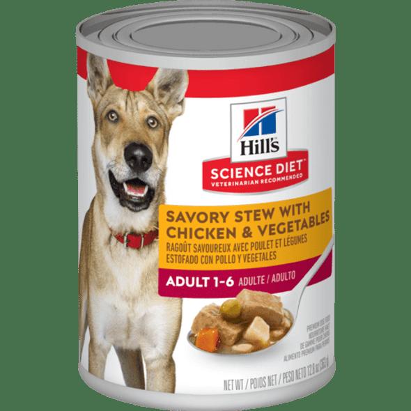 Science Diet Dog Can Adult Savory Stew Chicken 363g
