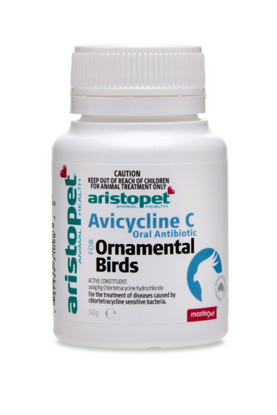 Aristopet Avicycline C Oral Antibiotic for Ornamental Birds 50g