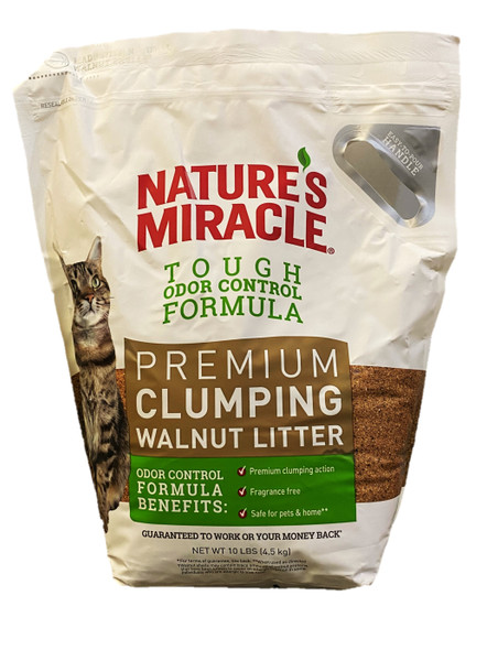 Nature's Miracle Premium Walnut Clumping Litter 4.5kg