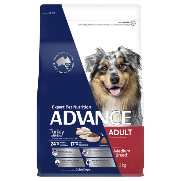 Advance Dog Adult Medium Breed - Turkey & Rice 3Kg