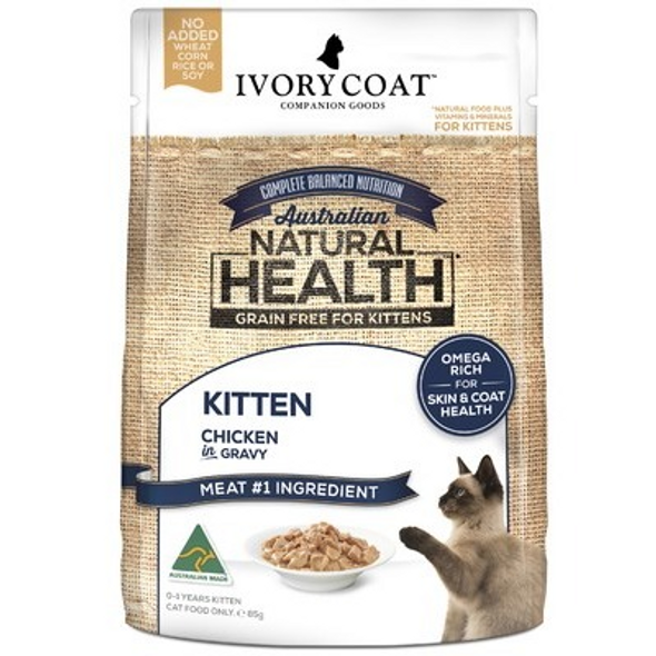 Ivory Coat Cat Kitten Chicken in Gravy 85g (individual)