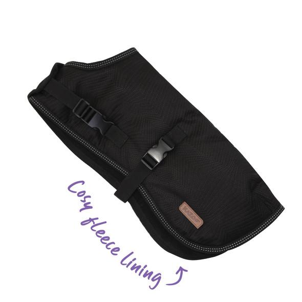 Dog Adventure Coat - Black L 59.5cm