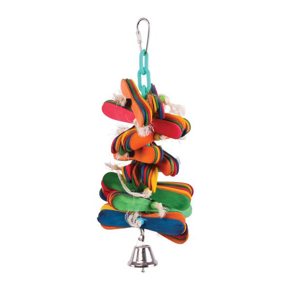 Bird Toy Popsticks & Bell - Medium
