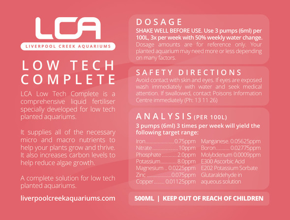 LCA - Low Tech Complete 250ml (for Nano Tanks)