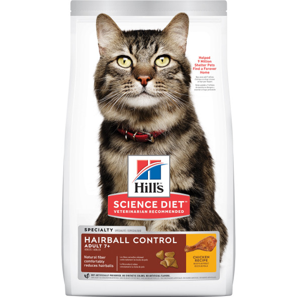 Science Diet Cat Adult 7+ Hairball Control 2Kg