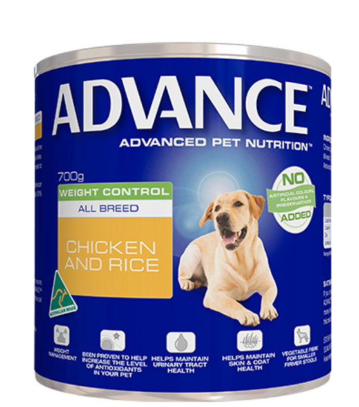 Advance Dog Adult All Breed Weight Control 700G X 12