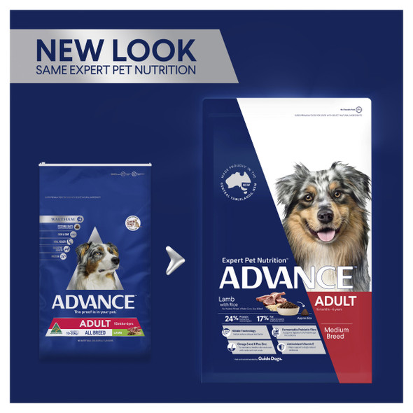 Advance Dog Adult Medium Breed - Lamb & Rice 3Kg